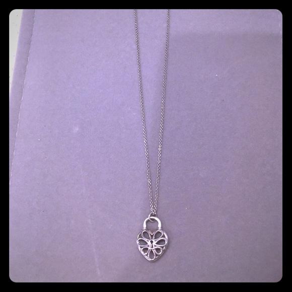 4ea708c9947d Tiffany   Co. Filigree Heart Lock Pendant. M 5ab99a3a45b30c50207906de